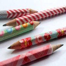 Lápis com fita washi: orientações de como fazer