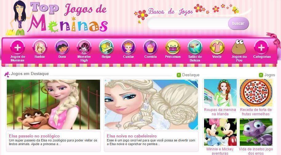 Site Top Jogos de Meninas